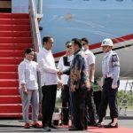 Kedatangan Presiden Joko WIdodo di Raden Intan II di Sambut Gubernur Lampung M Ridho Ficardo