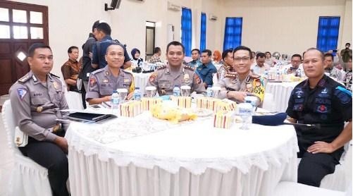 Sejumlah Pejabat Utama Polda DIY menghadiri Jumpa Pers Akhir Tahun 2018