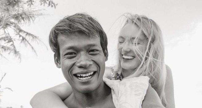 Viral Foto dan Video Mesra Pria Asal Muntilan yang menikah dengan Bule Cantik