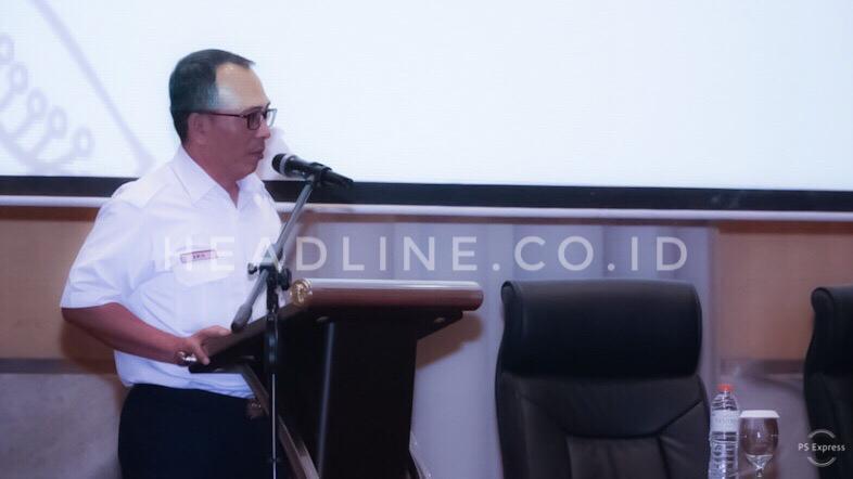 Executive Vice President (EVP) Daop 6 Yogyakarta, Eko Purwanto memberikan sambutan pada Rapat Koordinasi Kinerja dan Pencapaian Program Komersial Tahun 2019 Direktorat Komersial PT. Kereta Api Indonesia (Persero)