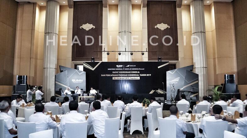 Suasana gala dinner Direktorat Komersial PT. KAI (Persero) dalam Rapat Koordinasi Kinerja dan Pencapaian Program Komersial Tahun 2019