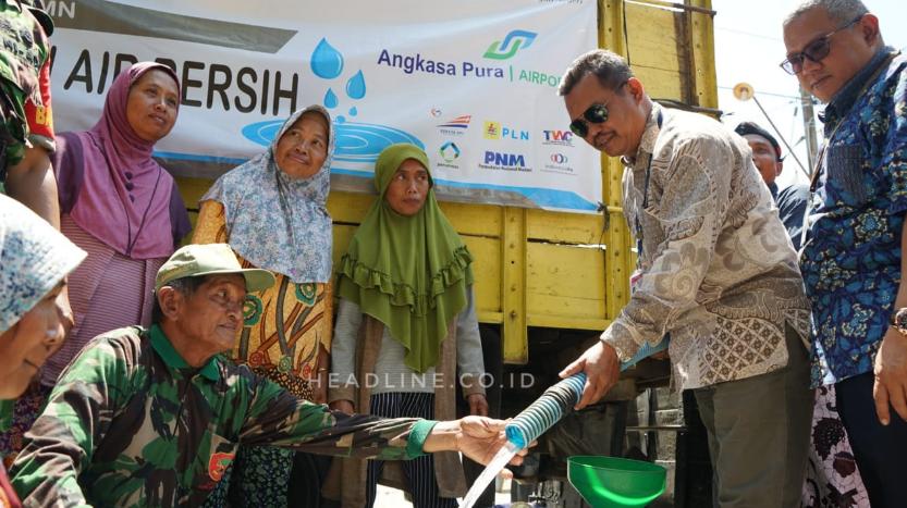 Sinergi 7 BUMN berikan bantuan air bersih untuk masyarakat Desa Sampang