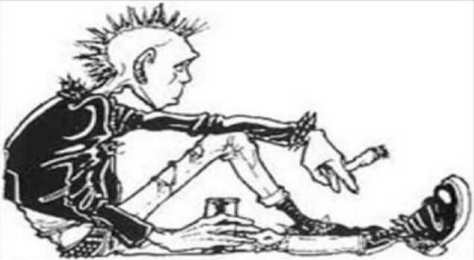 Foto ilustrasi anak punk