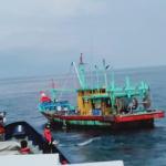Foto ilustrasi kapal asing di Natuna