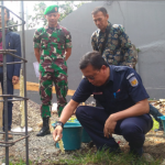 PT KAI melakukan groundbreaking Masjid Baitus Sujuud di Jalan Cihampelas, Kota Bandung, Jawa Barat, Kamis (12/12/2019)