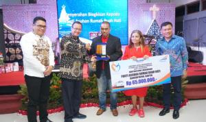 Edi Sukmoro Direktur Utama PT KAI berikan CSR Bantuan Bina Lingkungan kepada Panti Suhan Rumah Buah Hati