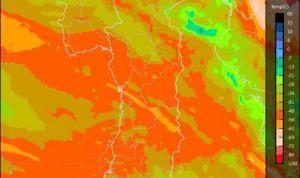 Ilustrasi - Gambar citra satelit BMKG pergerakan angin dan awan.