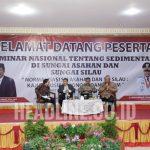 Walid Dalimunthe Selaku Konsultan Pariwisata Berkelanjutan menjadi Narasumber termuda dalam Seminar Nasional Sedimentasi Sungai Asahan dan Sungai Silau.