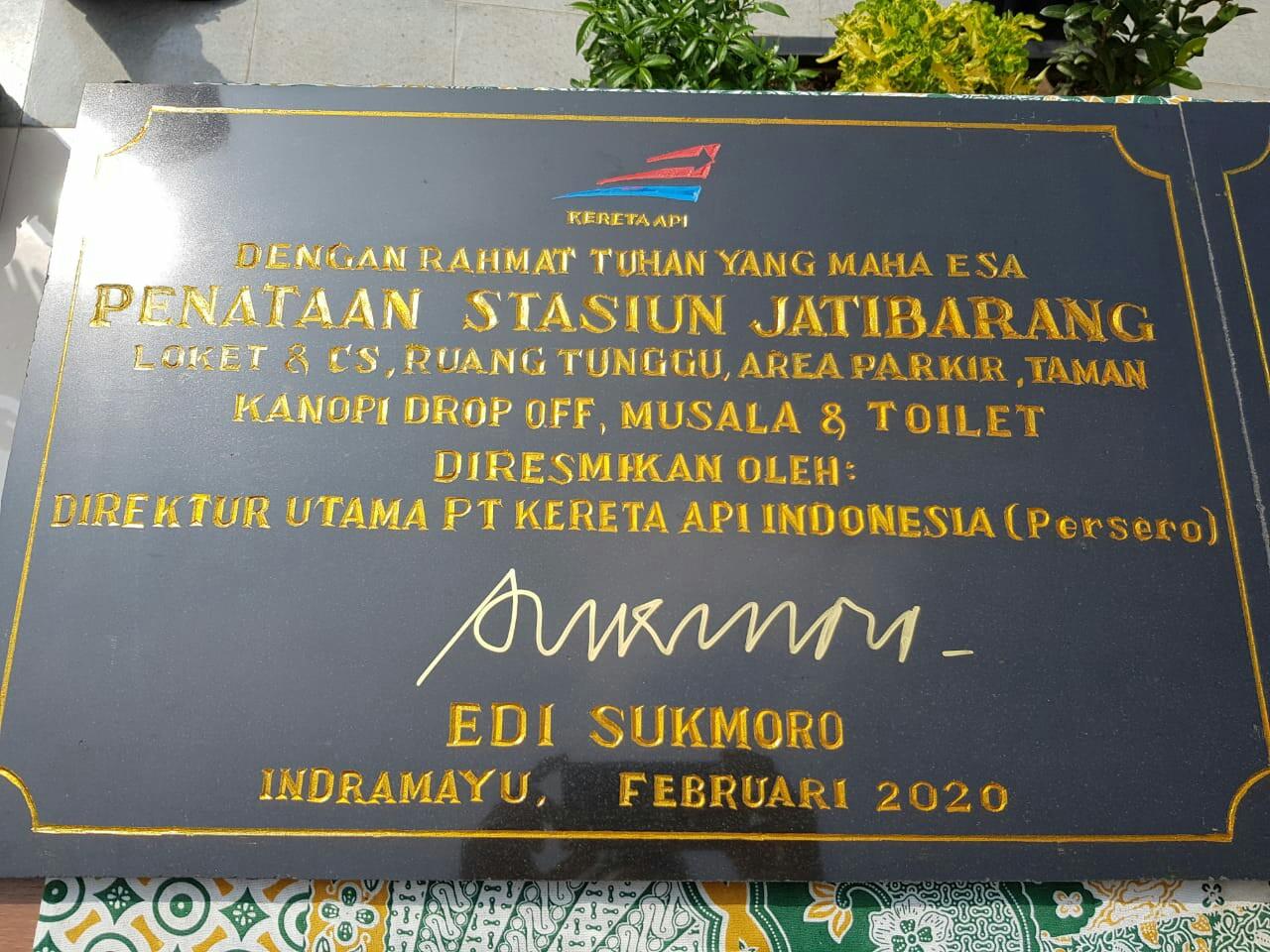 Penataan Stasiun Jatibarang merupakan wujud sinergi BUMN untuk mendukung program pembangunan Pemerintah Provinsi Jawa Barat khususnya di wilayah Kabupaten Indramayu.