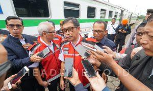 Danto Setyawan selaku Direktur Lalu Lintas dan Angkutan Kereta Api saat diwawancarai awak media.