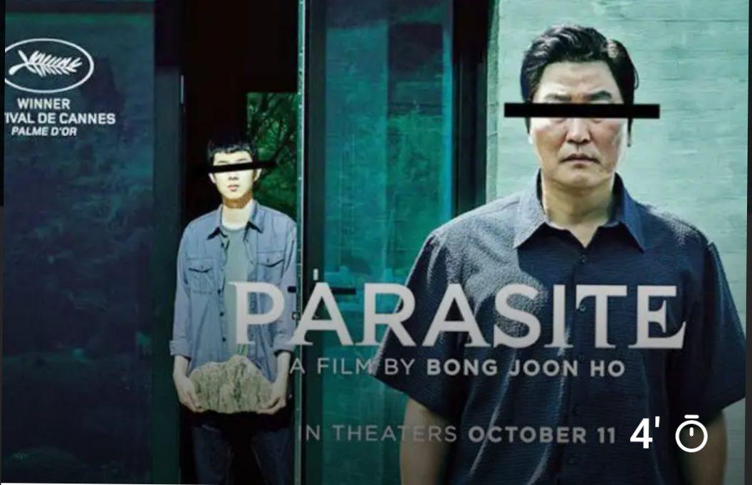Film Parasite memenangkan piala Oscar 2020 Kategori Film Terbaik