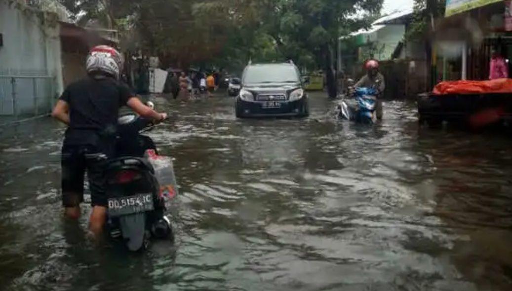 Ilustrasi Banjir di Jakarta Selatan.