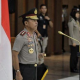 Kapolri Jenderal Idham Azis Saat Memimpin Upacara Naik Pangkat