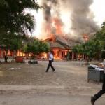 Kebakaran di Polres Okan Ilir Sumatera Selatan