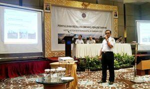 Kombes Pol.Suharwiyono SH MH selaku Senior Manager Daop 6 Yogyakarta memberikan pemaparan dalam kegiatan Penyuluhan Regulasi di Bidang Perkeretaapian.