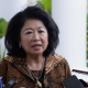 Mari Elka Pangestu bertemu dengan pers usai bertemu Jokowi