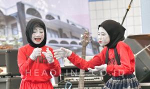 Penampilan Pantomim oleh siswa siswi SD Muhammadiyah Sagan Yogyakarta dalam acara Gebyar Musagta ke-50
