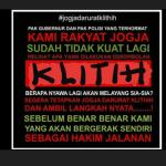 Poster Jogja Darurat Klitih