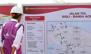 Presiden Jokowi Tinjau Pembangunan Tol Sigli-Banda Aceh