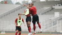 Timnas Indonesia berlatih keras dibawah asuhan Shin Tae Yong.