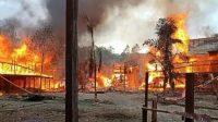Pemukiman di Toraja Utara Kebakaran, uang 300 Juta ikut terbakar. (Dok. Peltu Agustinus Runtung Batuud)