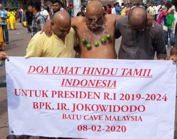 Umat Hindu Tamil Indonesia Berikan Doa Untuk Presiden RI di Batu Cave Malaysia
