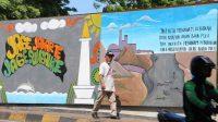 Ilustrasi Mural Peduli Lingkungan di Manggarai