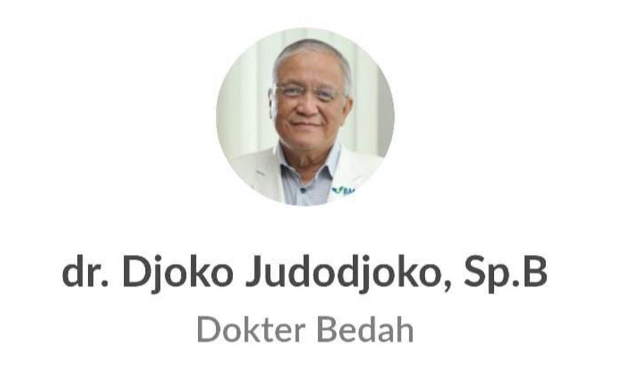Diduga terinfeksi Corona Virus Dokter Djoko Judodjoko meninggal dunia Sabtu