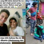 Driver Ojol yang telah kehilangan motornya saat narik, kini dibantu Baim Wong.