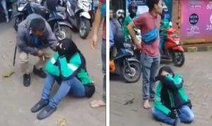 Driver ojol wanita ini menangis saat motornya di curi maling.