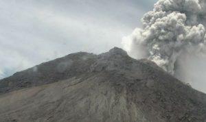 Erupsi Gunung Merapi tercatat di seismogram dgn amplitudo 75 mm dan durasi 7 menit. Teramati tinggi kolom erupsi ± 5.000 meter dari puncak.