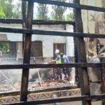 Gedung sekolah di Mojokerto kebakaran.