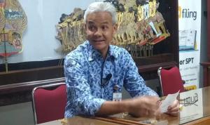 Gubernur Ganjar Pranowo saat menyampaikan data terbaru mengenai jumlah pasien dan penanganan COVID-19 di Provinsi Jawa Tengah