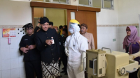 Gubernur Jawa Tengah Ganjar Pranowo saat meninjau kesiapan RSUD Tugurejo Kota Semarang