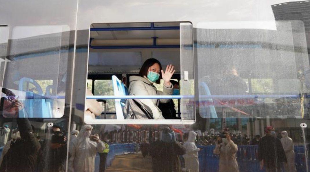 Ilustrasi Pasien yang sembuh dari virus Corona di Tiongkok.