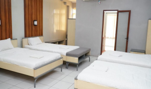 Kamar di wisma atlet JSC Palembang akan digunakan untuk ruang karantina Orang Dalam Pemantauan Virus Corona