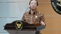 Menteri Koordinator bidang Politik, Hukum dan Keamanan Mahfud MD saat memberikan keterangan pers di Kantor Kemenko Polhukam