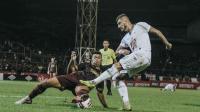PSS Sleman Saat Bertanding Melawan PSM Makassar