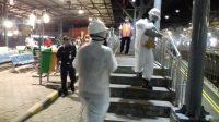 PT KAI Daop 6 Yogyakarta menyemprot Disinfektan di setiap sudut Stasiun Besar Yogyakarta.