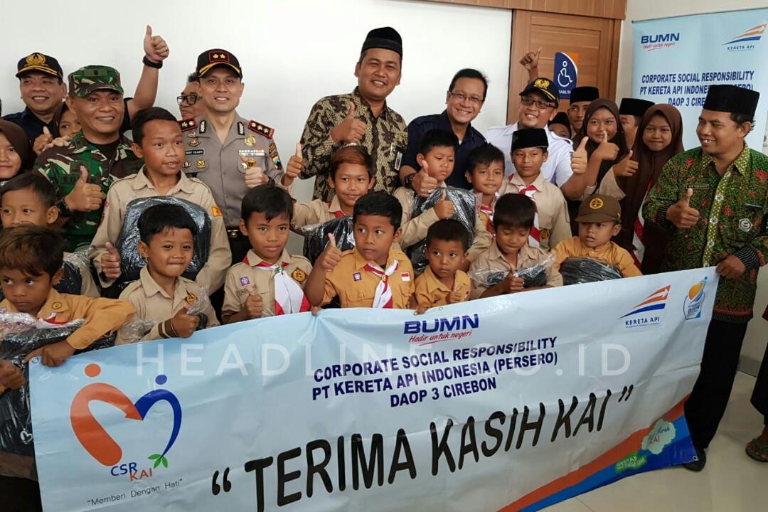 PT KAI (Persero) juga memberikan CSR kepada Pemerintah Kabupaten Brebes.