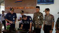 PT KAI bersama Bupati dan Muspida Brebes meresmikan Penataan Stasiun Brebes.