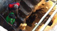 Penampakan tangga baru di terowongan kuno era Belanda di Klaten.