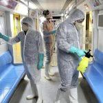 Penyemprotan Disinfektan di Transportasi publik. (Foto: Ebrahim Noroozi)