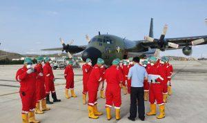 Pesawat Hercules milik TNI akan tiba ditanah air besok.