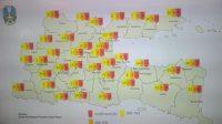 Peta Persebaran virus Corona di Jatim. (Foto: Istimewa)