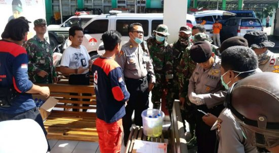 Polres Bantul mengajak semua relawan bekerjasama dalam melakukan pencegahan virus Corona. (Foto: Headline.co.id)