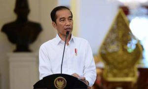 Presiden Jokowi saat memberikan keterangan pers di Istana Negara. (Foto: KSP)