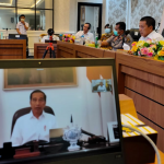 Presiden RI Joko Widodo memberikan arahan kepada Gubernur se-Indonesia untuk menghadapi Pandemik Covid-19