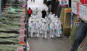 Salah satu kota di Korea Selatan diisolasi atau lockdown guna mencegah menyebarnya virus Corona di negara tersebut.