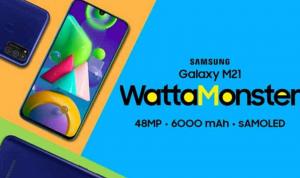 Samsung Galaxy M21 akhirnya resmi diluncurkan dengan membanggakan kamera utama 48MP dalam pengaturan triple-camera bertenaga chipset Exynos 9611 dan dihidupkan oleh baterai jumbo